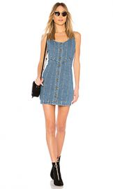 n   nicholas Denim Button Front Mini Dress in Washed Blue from Revolve com at Revolve