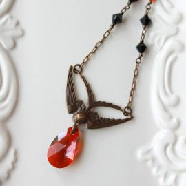 nancywallisdesigns Swoop Bird Necklace at Etsy