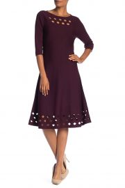 nic zoe NIc ZOE Time Out 3 4 Sleeve Midi Dress at Nordstrom Rack