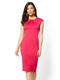 nyc 7TH AVENUE - PLEATED SHEATH DRESS at NY&C