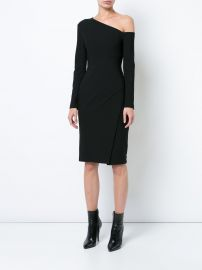 one-shoulder fitted dress at Farfetch