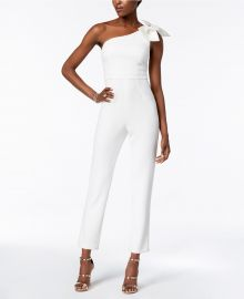 one shoulder jumpsuit adrianna papell at Macys
