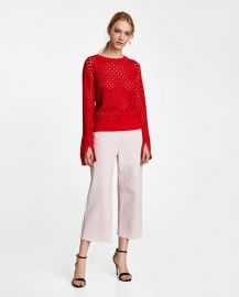 openwork sweater at Zara