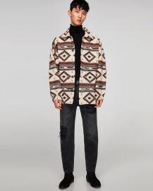 oversized jacquard jacket at Zara