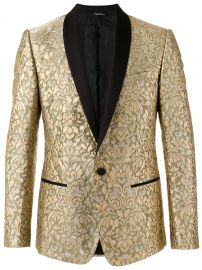 paisley embossed blazer dolce and gabbana at Farfetch