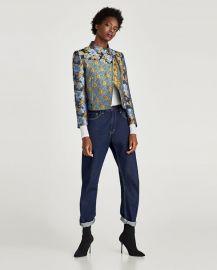 patchwork jacket at Zara