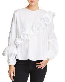 petersyn Jessica Asymmetric Ruffled Shirt at Bloomingdales