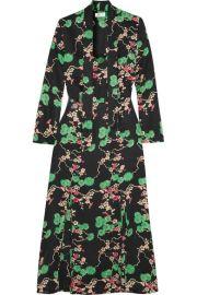 pixon london Stella printed silk-jacquard midi dress at Net A Porter