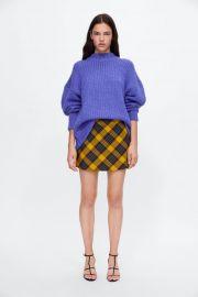 plaid mini skirt at Zara