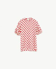 polka dot top at Zara
