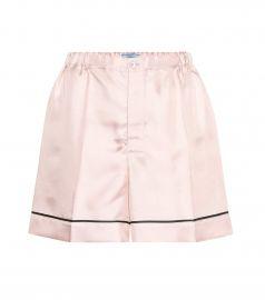 prada Silk-satin shorts at My Theresa