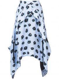 printed asymmetric skirt Proenza Schouler at Farfetch