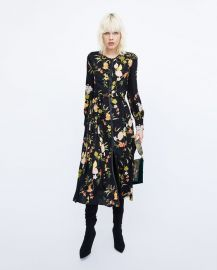 printed midi dress at Zara