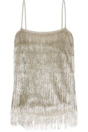 rachel zoe Wick metallic fringed camisole at Net A Porter