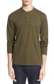 rag  amp  bone Standard Issue Slub Cotton Henley in green at Nordstrom