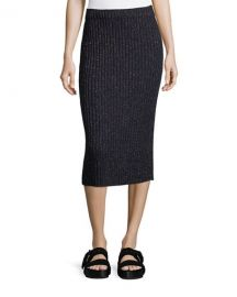 rag and bone Jubilee Ribbed Metallic Midi Skirt at Neiman Marcus