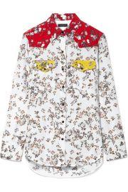 rag   bone   Jasper color-block floral-print silk-twill shirt at Net A Porter