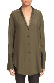 rag   bone  Leighton  Colorblock Silk Shirt at Nordstrom