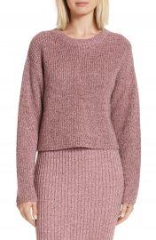 rag   bone Leyton Metallic Knit Merino Wool Blend Sweater at Nordstrom