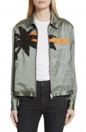 rag   bone Roth Embroidered Satin Jacket at Nordstrom