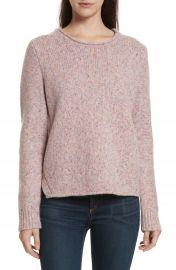 rag  amp  bone Francie Suede Trim Wool Blend Sweater at Nordstrom