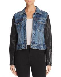 rag  amp  bone JEAN Nico Denim  amp  Leather Jacket  Women - Bloomingdale s at Bloomingdales