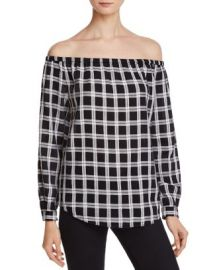 rag  amp  bone JEAN Off-The-Shoulder Plaid Top at Bloomingdales