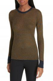 rag  amp  bone Raina Metallic Stripe Sweater at Nordstrom