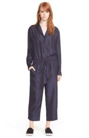 rag and bone Arthur Print Silk Jumpsuit at Nordstrom