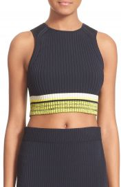 rag and bone Sheridan Rib Knit Crop Top at Nordstrom