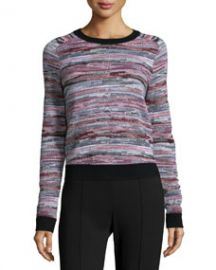 rag and boneJEAN Lola Striped Pullover Sweater Black Pattern at Neiman Marcus