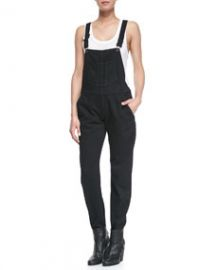 rag and boneJEAN Racerback Overalls Coal at Neiman Marcus