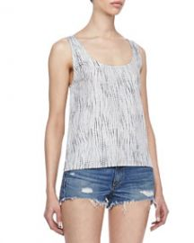 rag and boneJEAN Simple Rip-Tide-Print Tank at Neiman Marcus