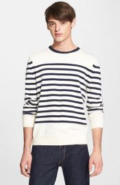 rag andamp bone and39Chaseand39 Stripe Crewneck Sweater at Nordstrom