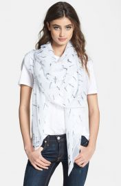 rag andamp bone and39Classic Daggerand39 Scarf in white at Nordstrom