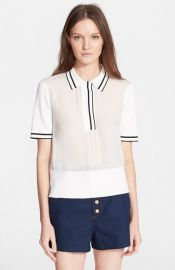 rag andamp bone and39Danaand39 Silk Polo at Nordstrom