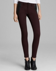 rag andamp boneJEAN Jeans - Pop Legging with Leather Panel in Wine at Bloomingdales