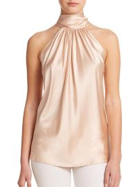 ramy brook Paige Stretch-Silk Halter Blouse at Saks Fifth Avenue