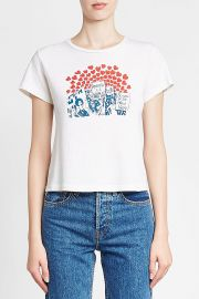 re done SISTERS OF THE WORLD PRINTED COTTON T-SHIRT at Stylebop