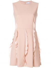red valentino A-line ruffle dress at Farfetch