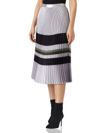 reiss Sophia Metallic Pleated Midi Skirt at Bloomingdales
