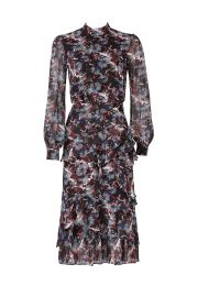 saloni Abstracted Floral Dress at Rent The Runway