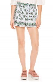 sandro Drawstring Print Shorts at Nordstrom
