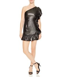 sandro Effie Ruffled Metallic Mini Dress at Bloomingdales