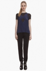 sandro Epithete Silk Top at Nordstrom
