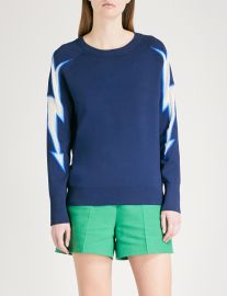 sandro Lightning-motif knitted sweater at Selfridges
