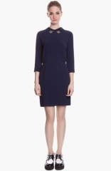 sandro Rodo Embellished Stretch Blouson Dress at Nordstrom