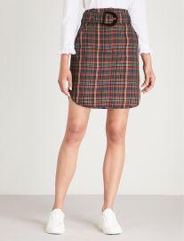 sandro Tartan-print woven skirt at Selfridges
