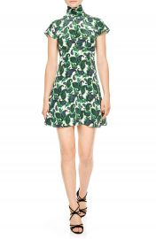 sandro Tie Back Print Silk Dress at Nordstrom