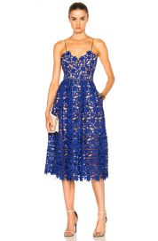 self-portrait Azaelea Dress in Cobalt   FWRD at Forward